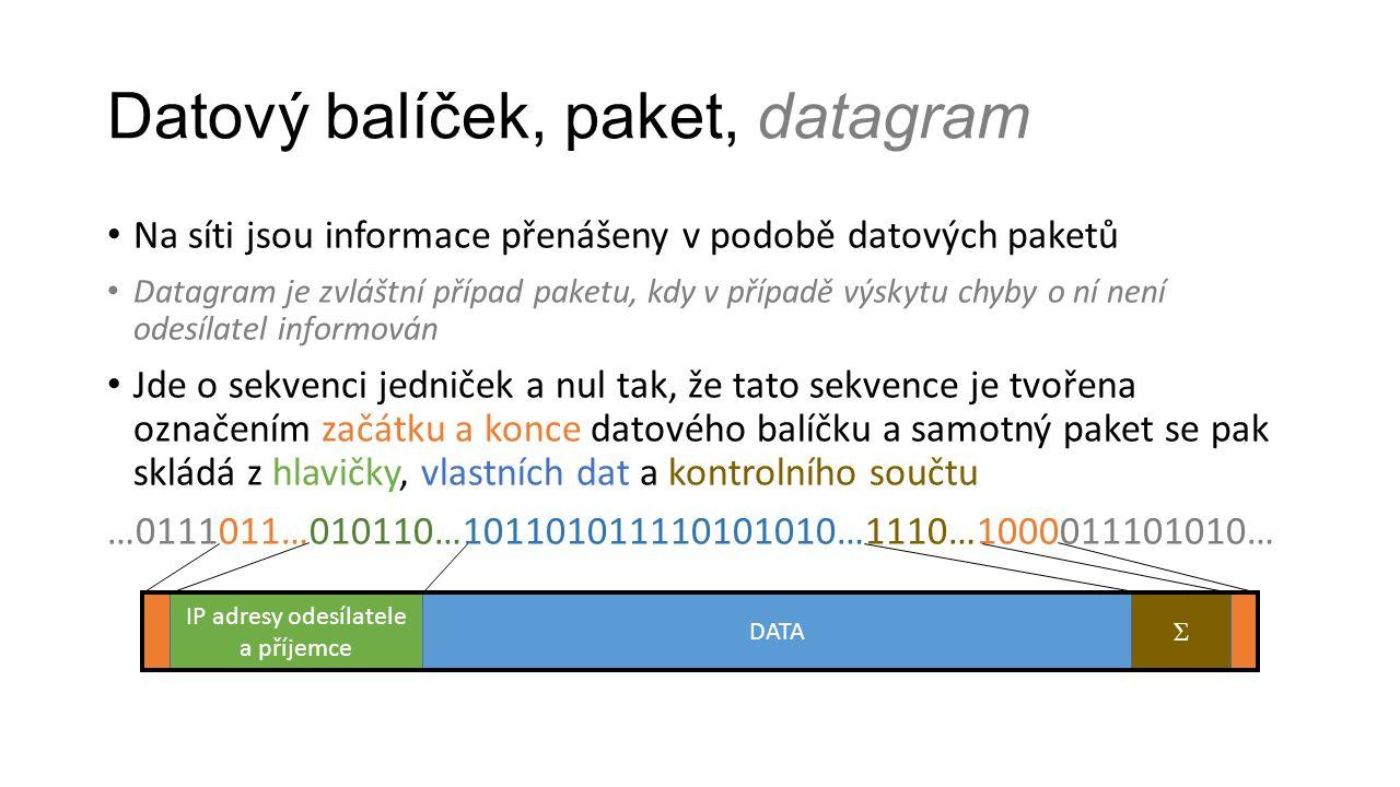 Datový balíček, paket, datagram