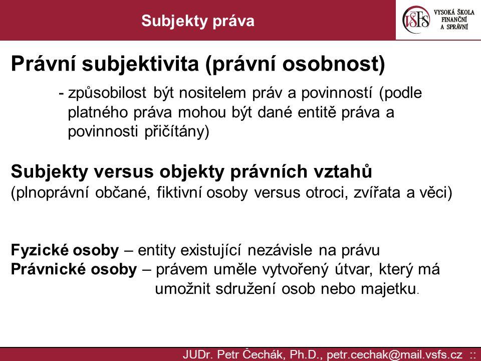 Právní subjektivita (právní osobnost)