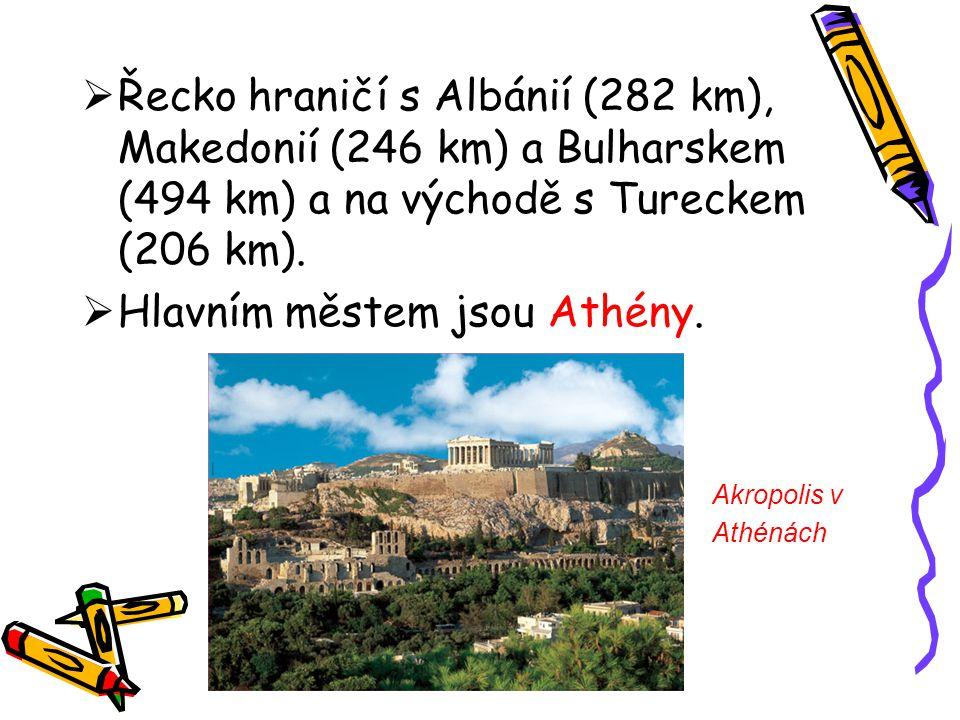 Hlavním městem jsou Athény.