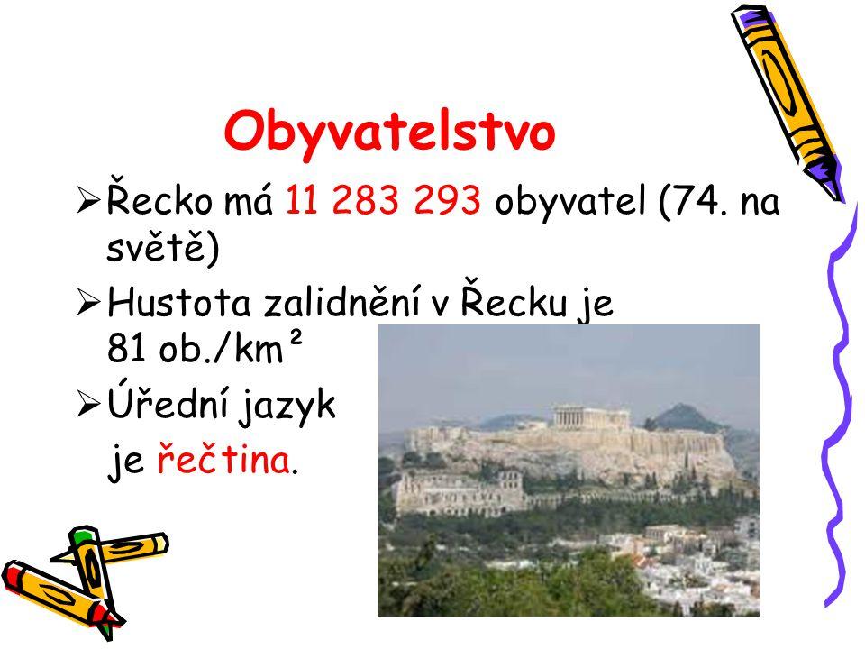 Obyvatelstvo Řecko má 11 283 293 obyvatel (74. na světě)