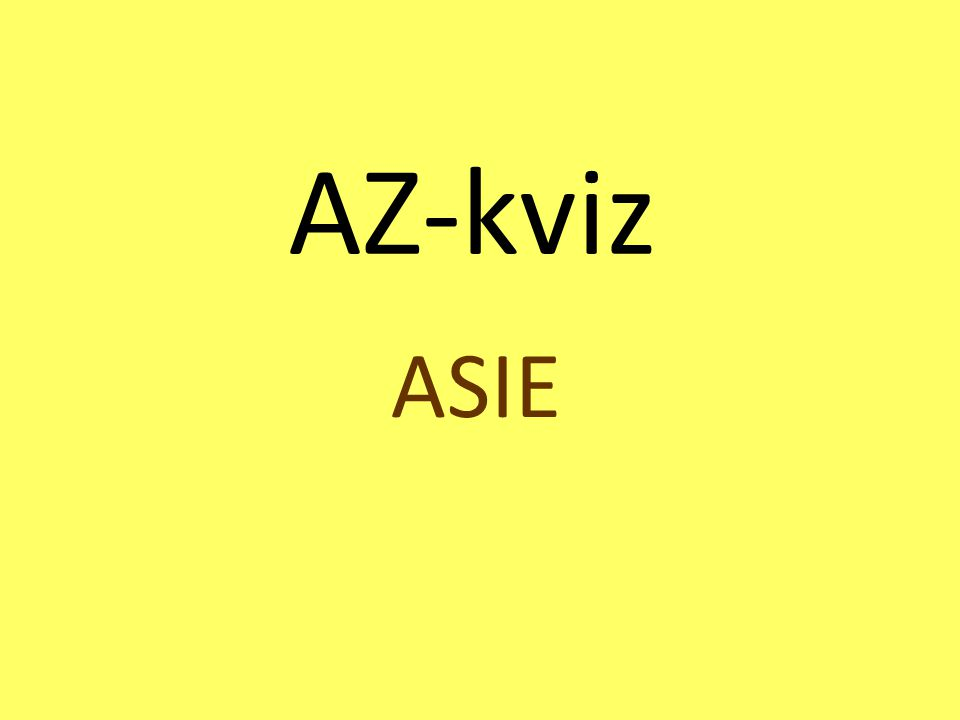 AZ-kviz ASIE