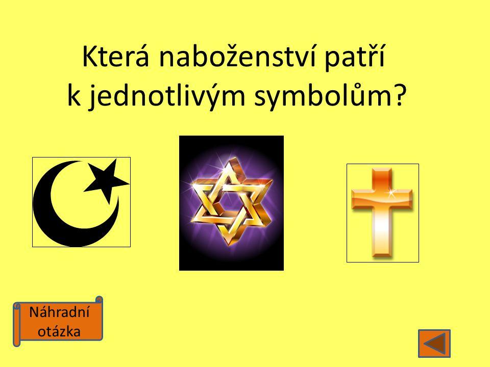 Která naboženství patří k jednotlivým symbolům