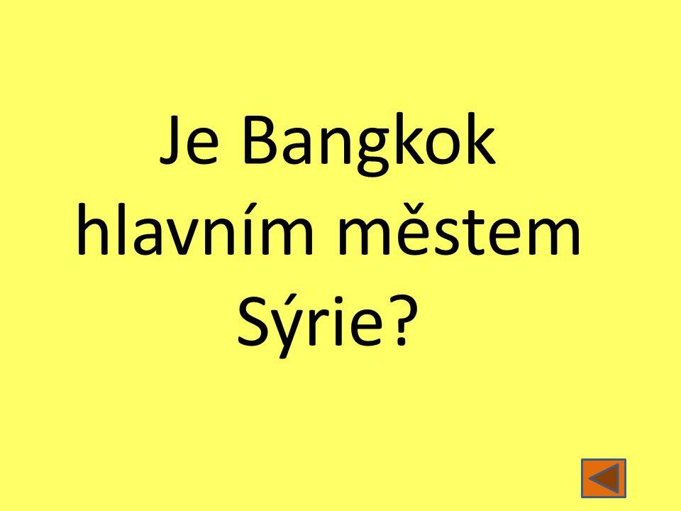 Je Bangkok hlavním městem Sýrie