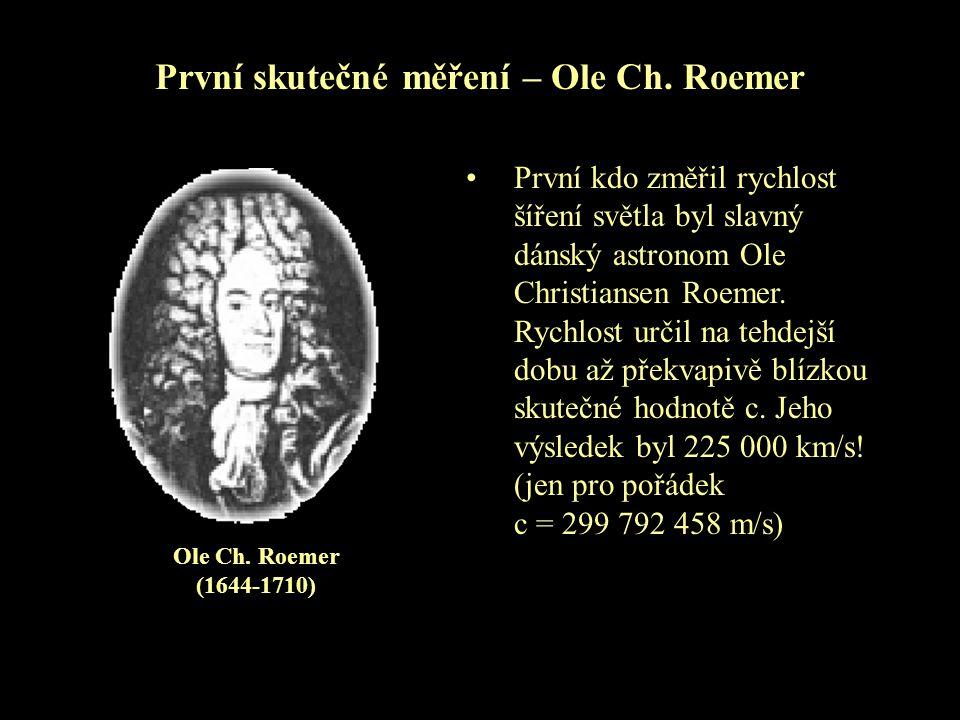 První skutečné měření – Ole Ch. Roemer
