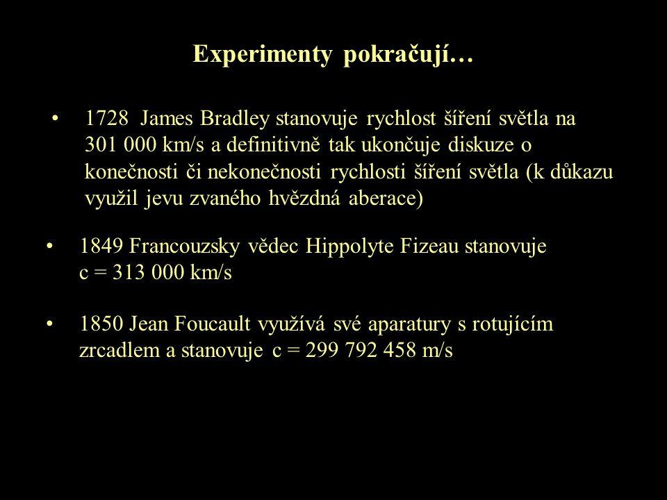 Experimenty pokračují…
