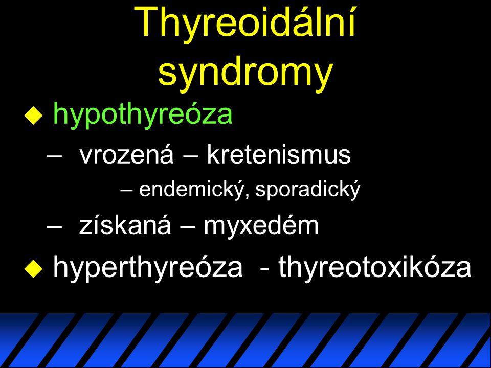 Thyreoidální syndromy