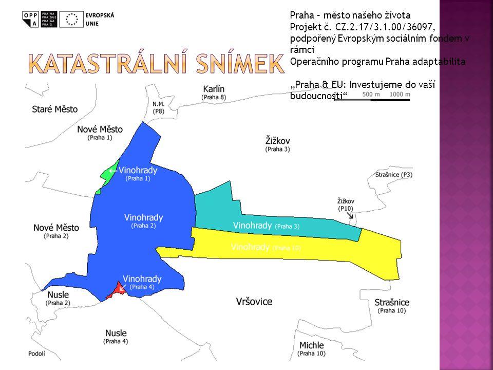 Katastrální snímek Praha – město našeho života
