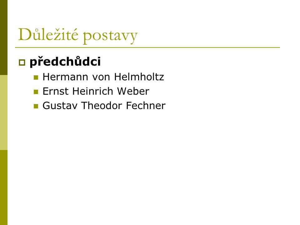 Důležité postavy předchůdci Hermann von Helmholtz Ernst Heinrich Weber