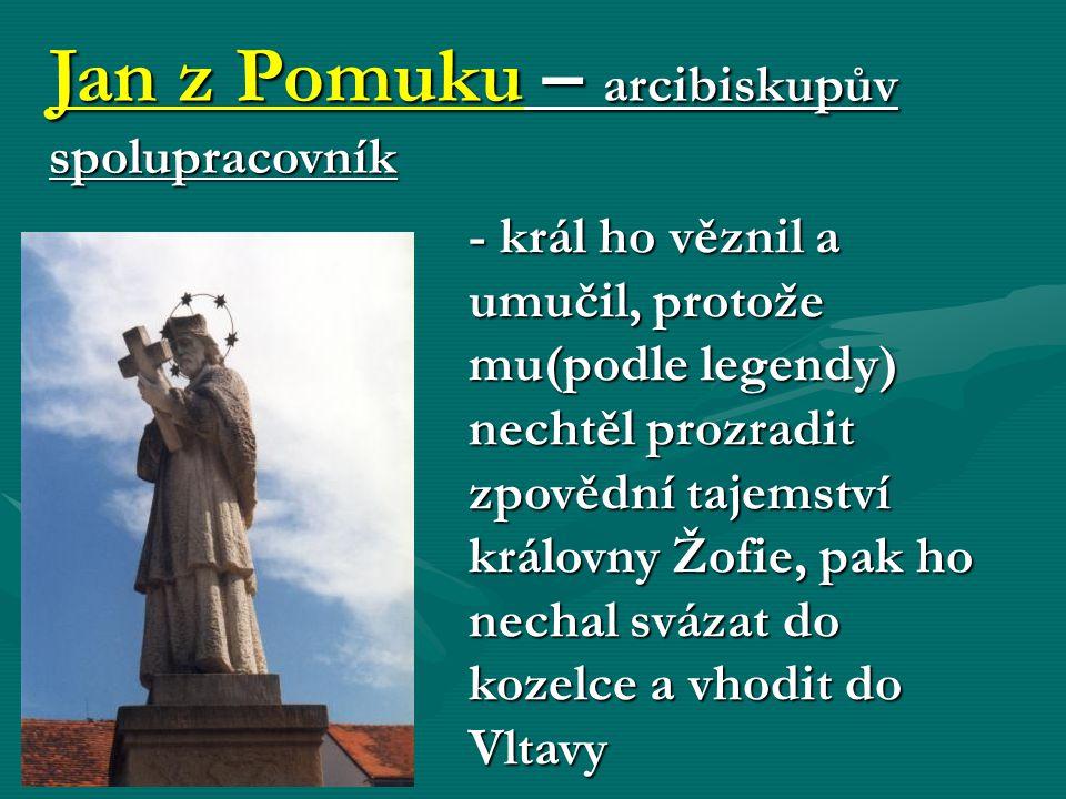 Jan z Pomuku – arcibiskupův spolupracovník