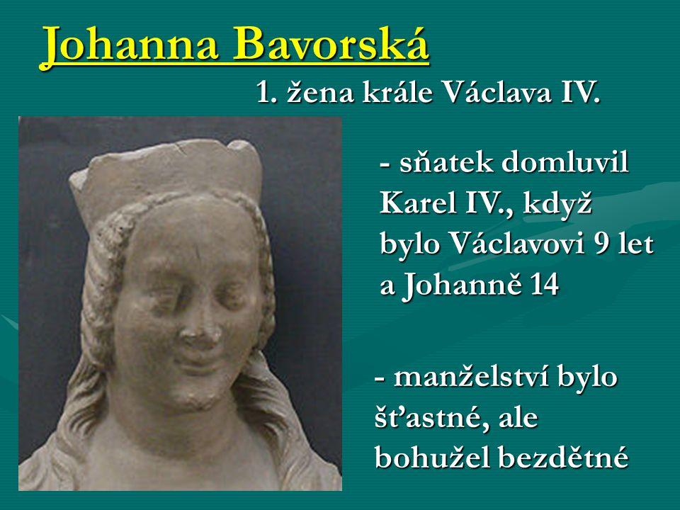 Johanna Bavorská 1. žena krále Václava IV.