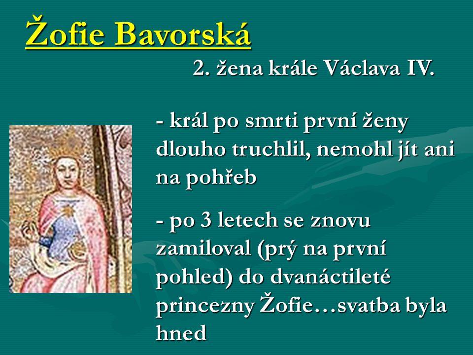 Žofie Bavorská 2. žena krále Václava IV.