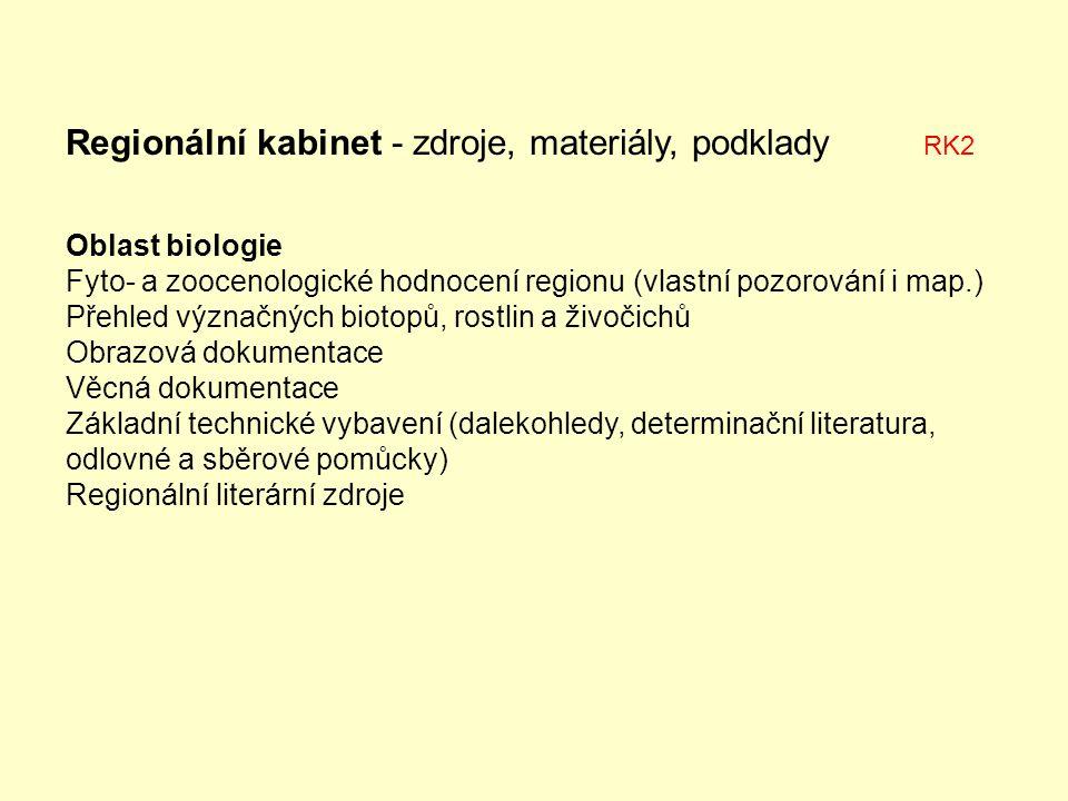 Regionální kabinet - zdroje, materiály, podklady RK2