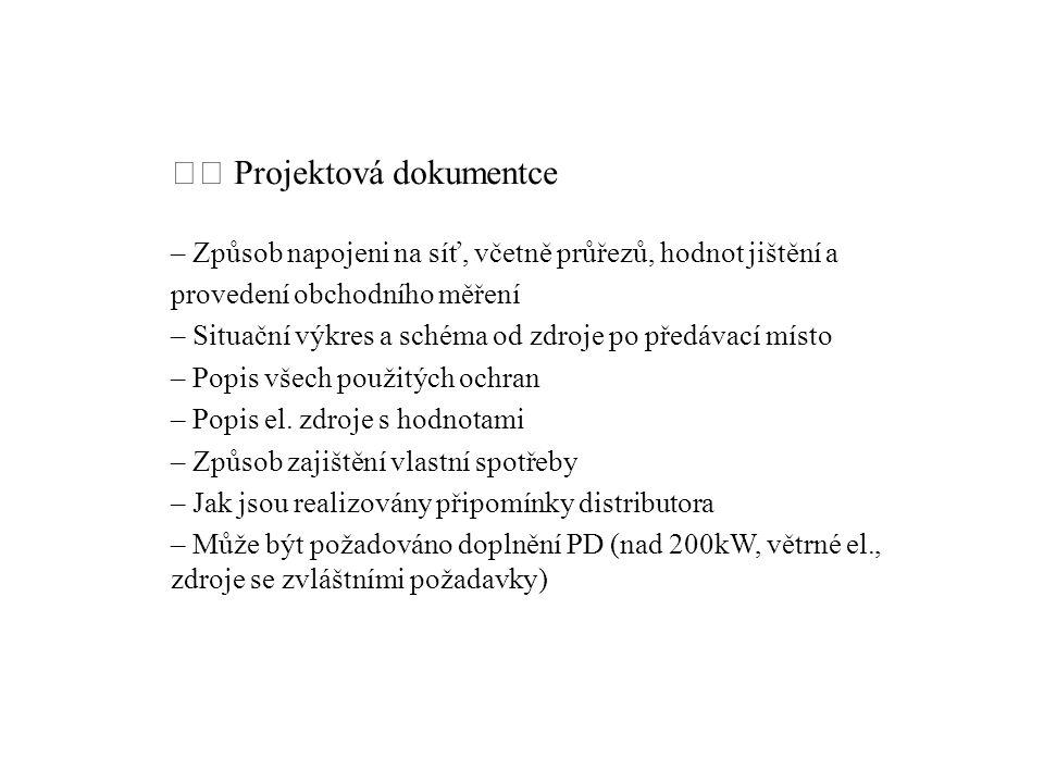  Projektová dokumentce