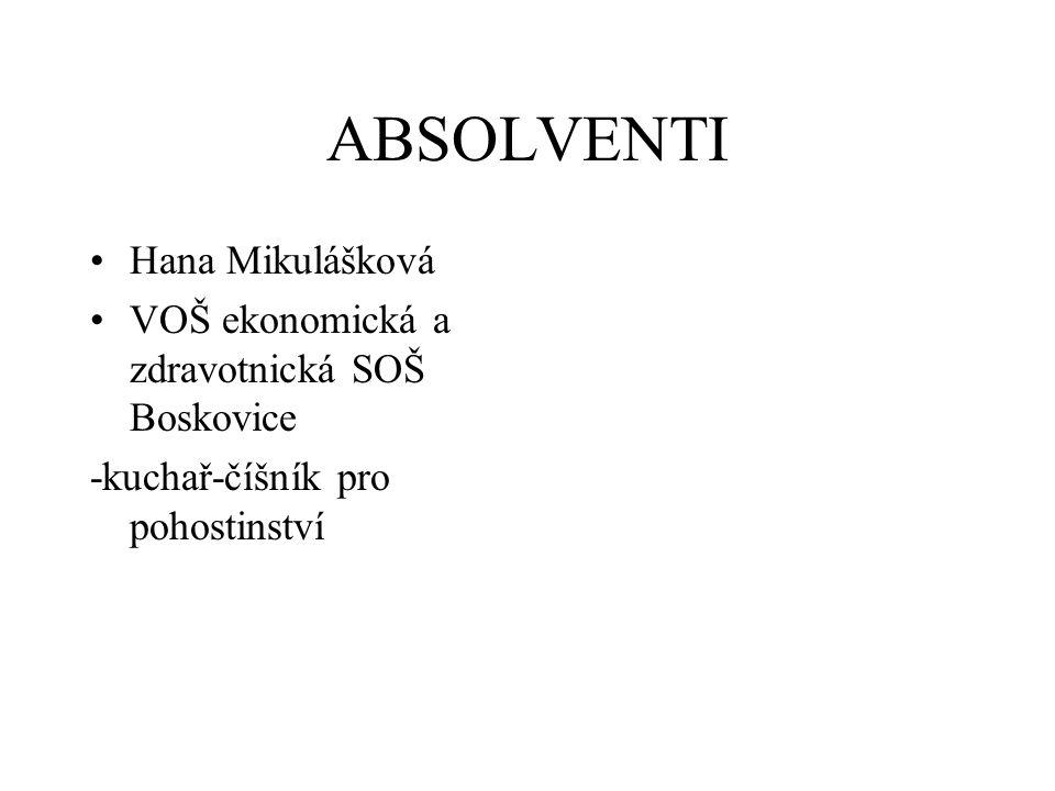 ABSOLVENTI Hana Mikulášková