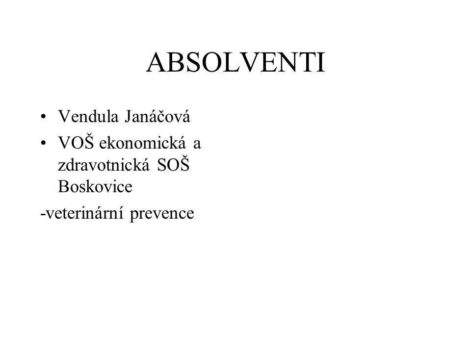 ABSOLVENTI Vendula Janáčová