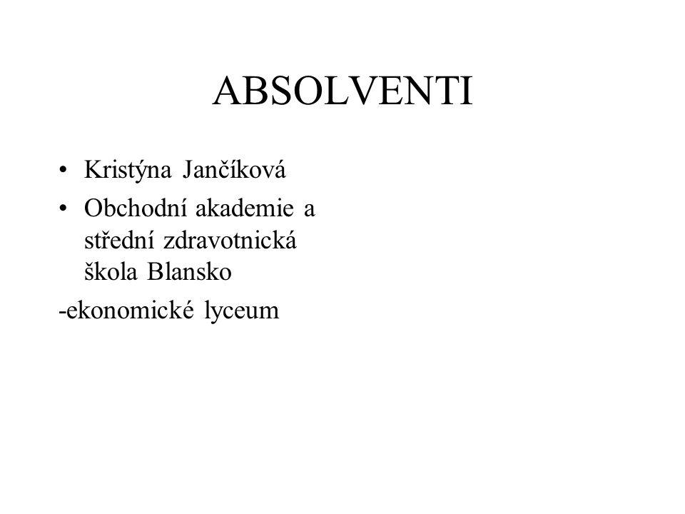 ABSOLVENTI Kristýna Jančíková