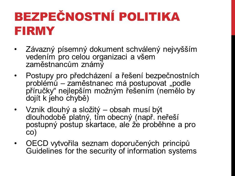 Bezpečnostní politika firmy