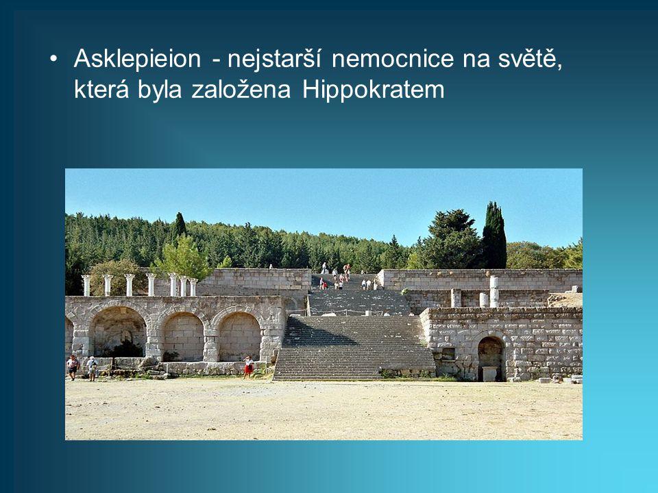Asklepieion - nejstarší nemocnice na světě, která byla založena Hippokratem