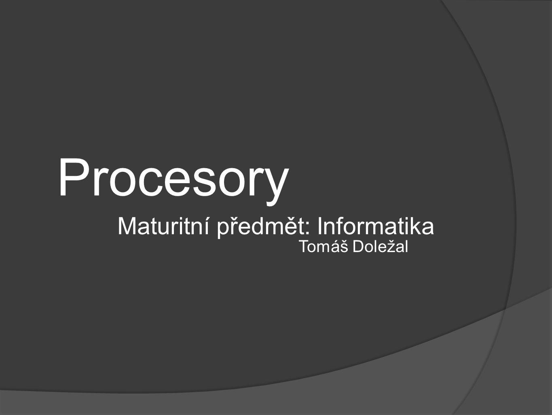 Maturitní předmět: Informatika