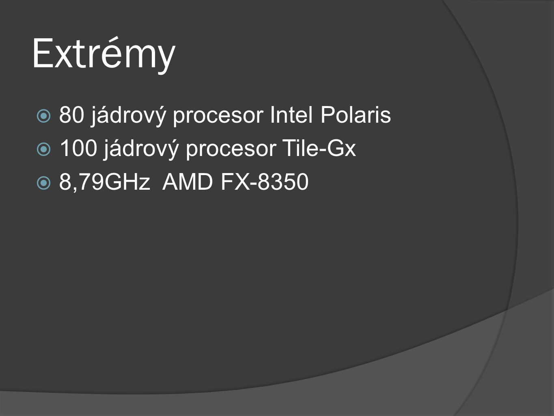 Extrémy 80 jádrový procesor Intel Polaris 100 jádrový procesor Tile-Gx