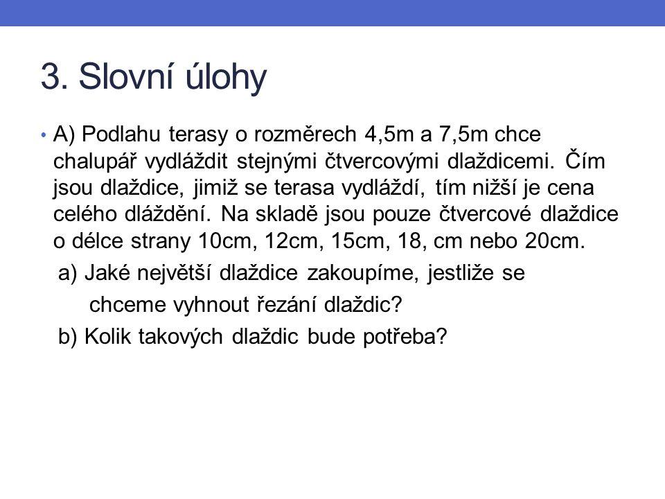 3. Slovní úlohy