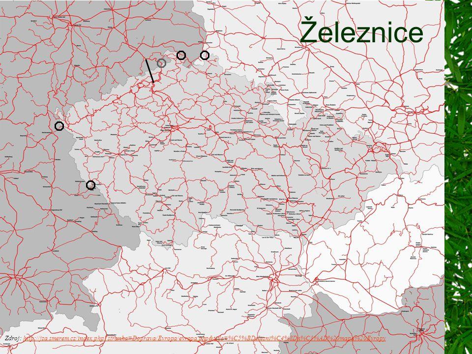 Železnice Zdroj: http://jza.smerem.cz/index.php stranka=Doprava/Evropa/evropa.php&title=%C5%BDelezni%C4%8Dn%C3%AD%20mapa%20Evropy.
