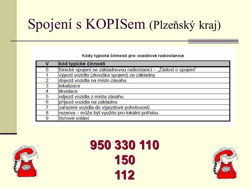 Spojení s KOPISem (Plzeňský kraj)