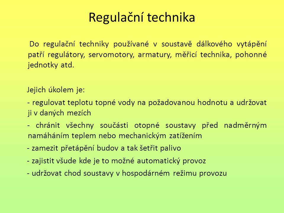 Regulační technika