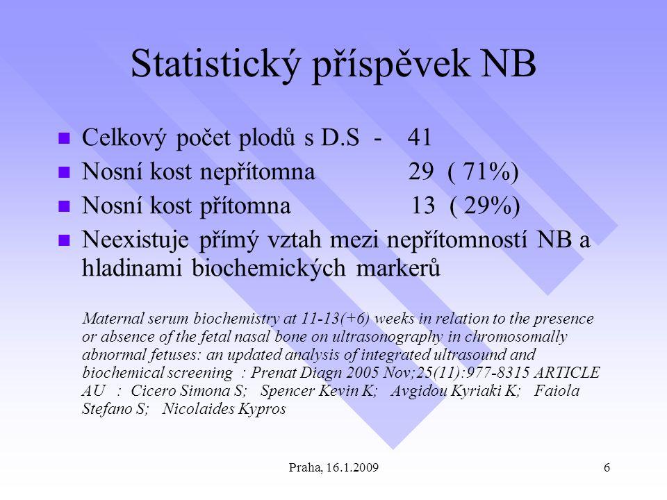 Statistický příspěvek NB