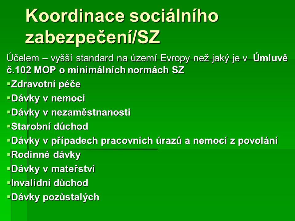Koordinace sociálního zabezpečení/SZ
