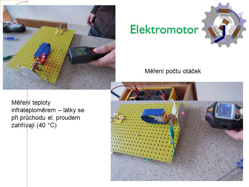 Elektromotor Měření počtu otáček