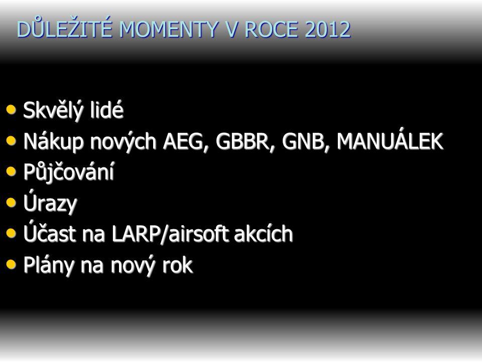 DŮLEŽITÉ MOMENTY V ROCE 2012
