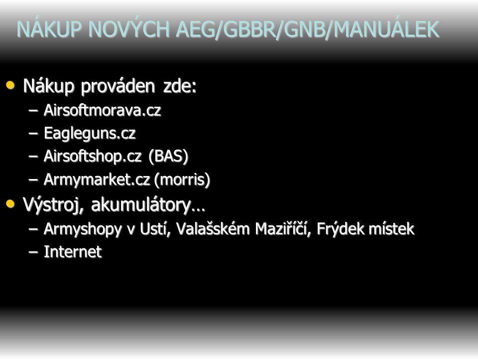 NÁKUP NOVÝCH AEG/GBBR/GNB/MANUÁLEK
