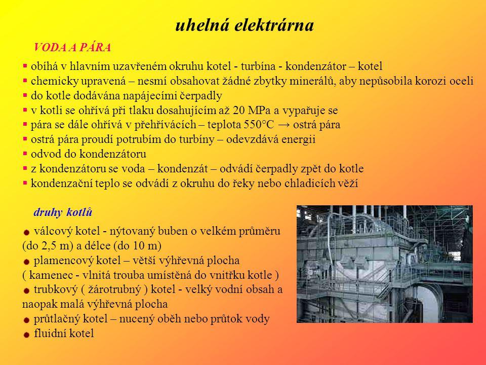 uhelná elektrárna VODA A PÁRA
