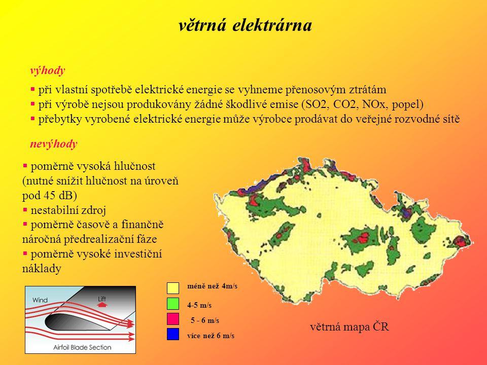 větrná elektrárna výhody