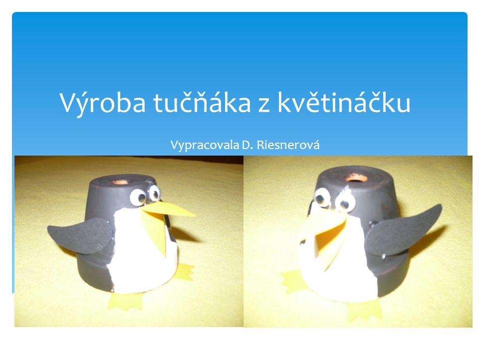 Výroba tučňáka z květináčku