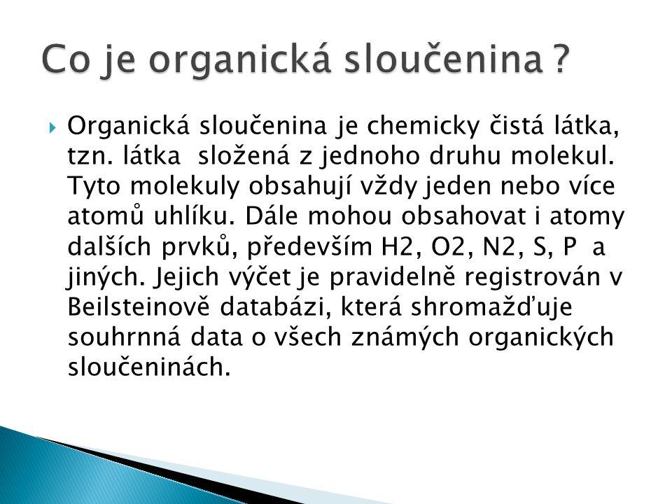 Co je organická sloučenina