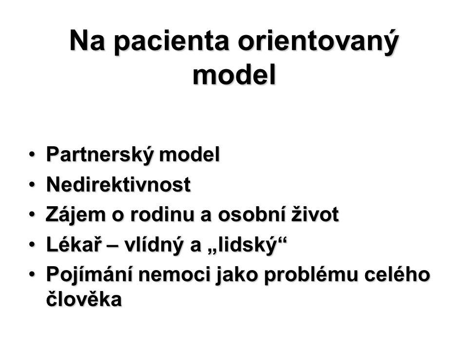 Na pacienta orientovaný model