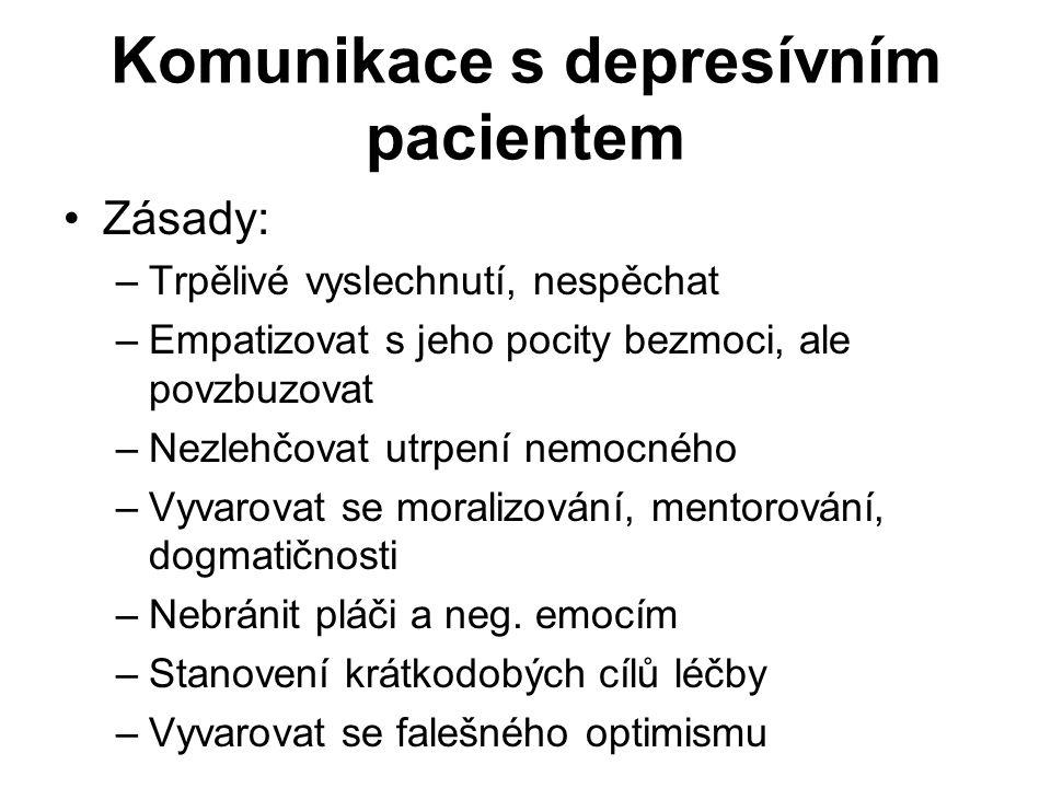 Komunikace s depresívním pacientem