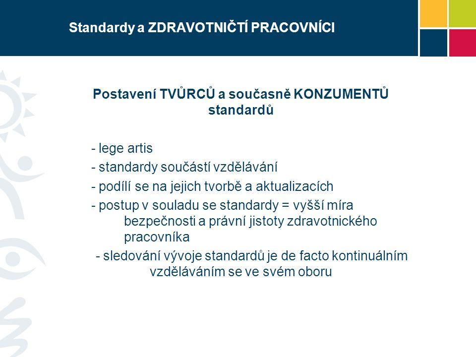 Standardy a ZDRAVOTNIČTÍ PRACOVNÍCI