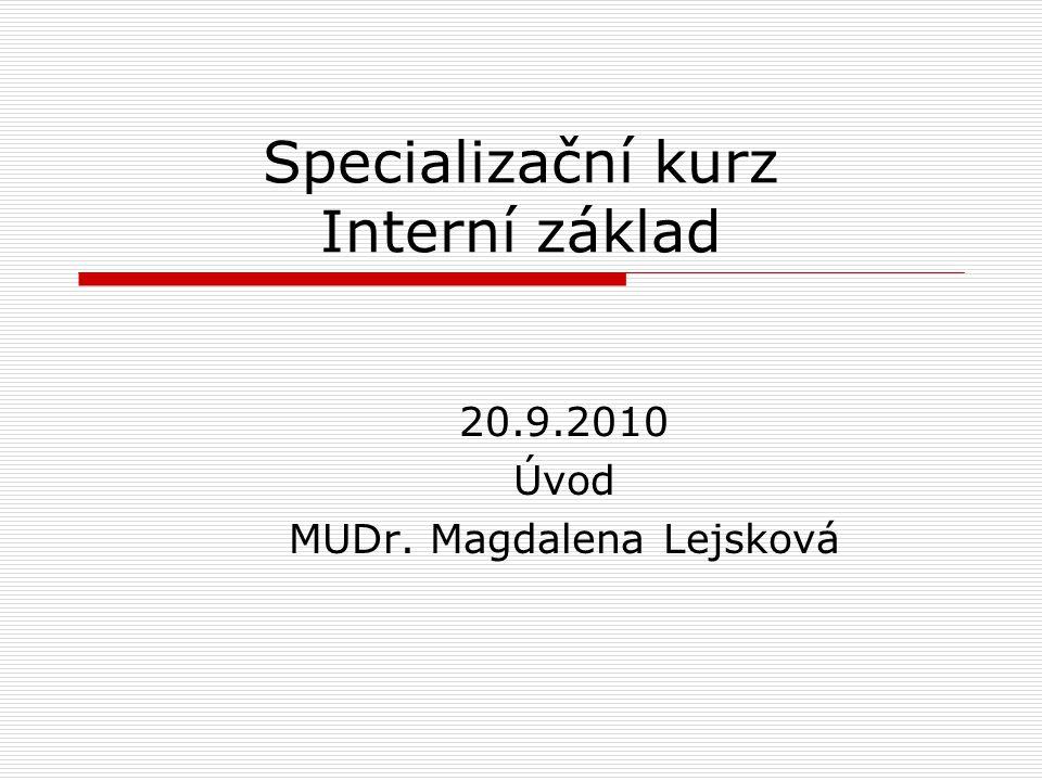 Specializační kurz Interní základ