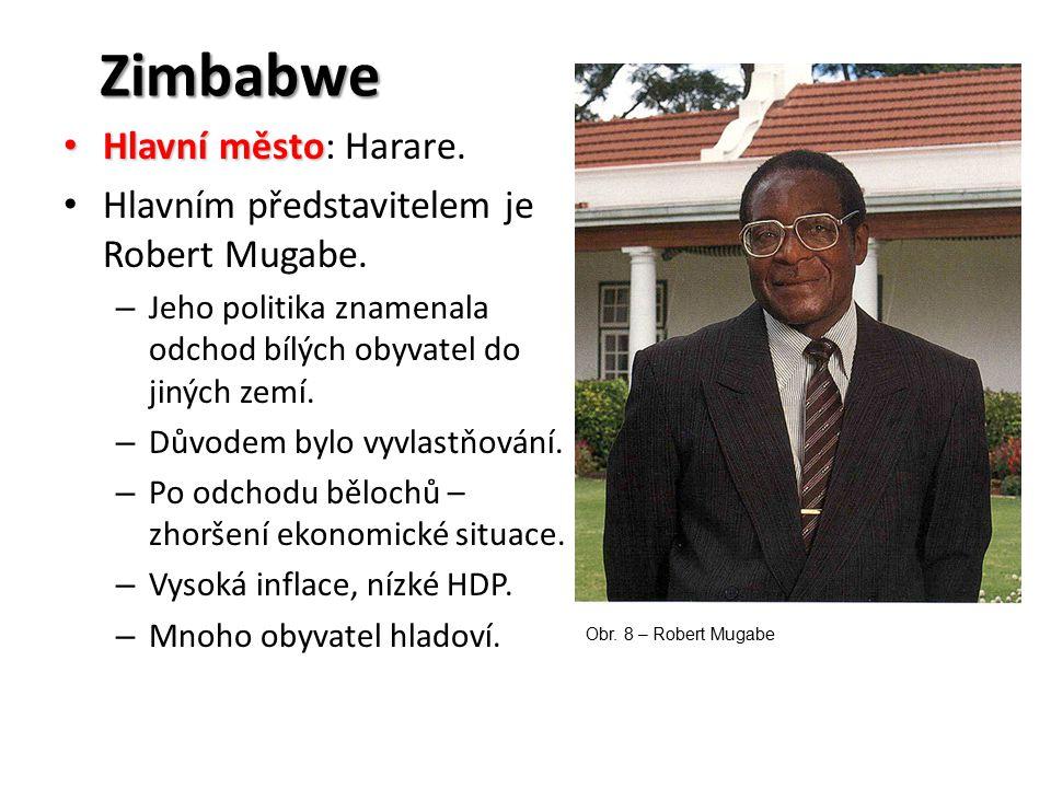 Zimbabwe Hlavní město: Harare.