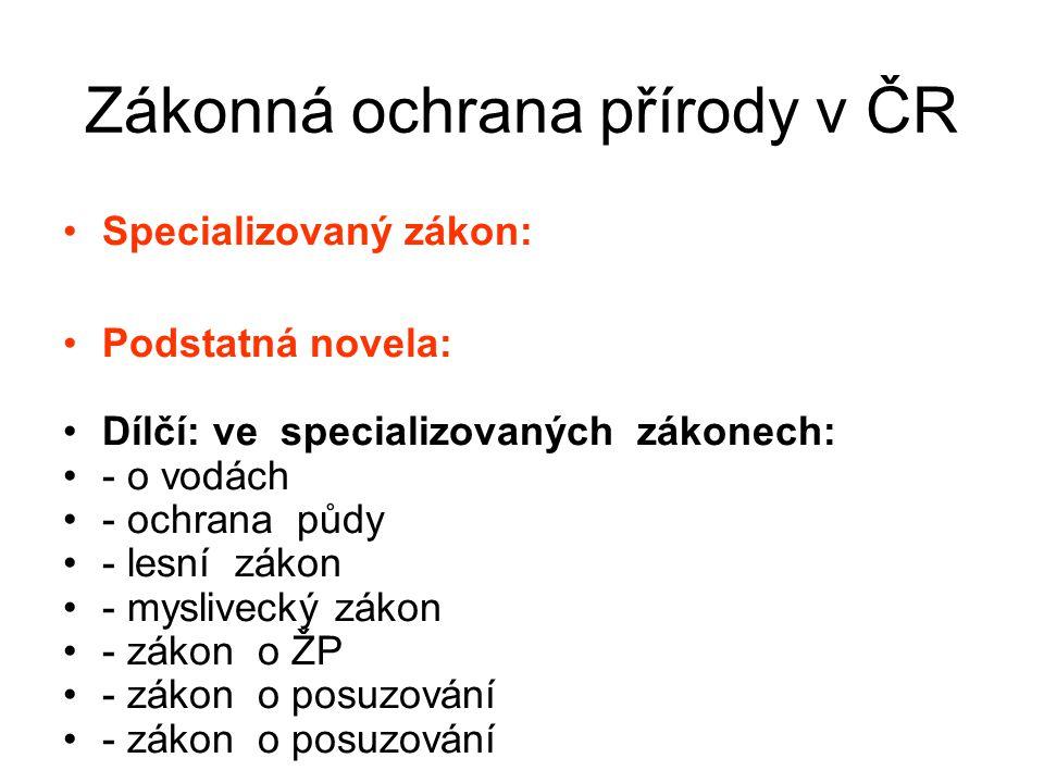 Zákonná ochrana přírody v ČR