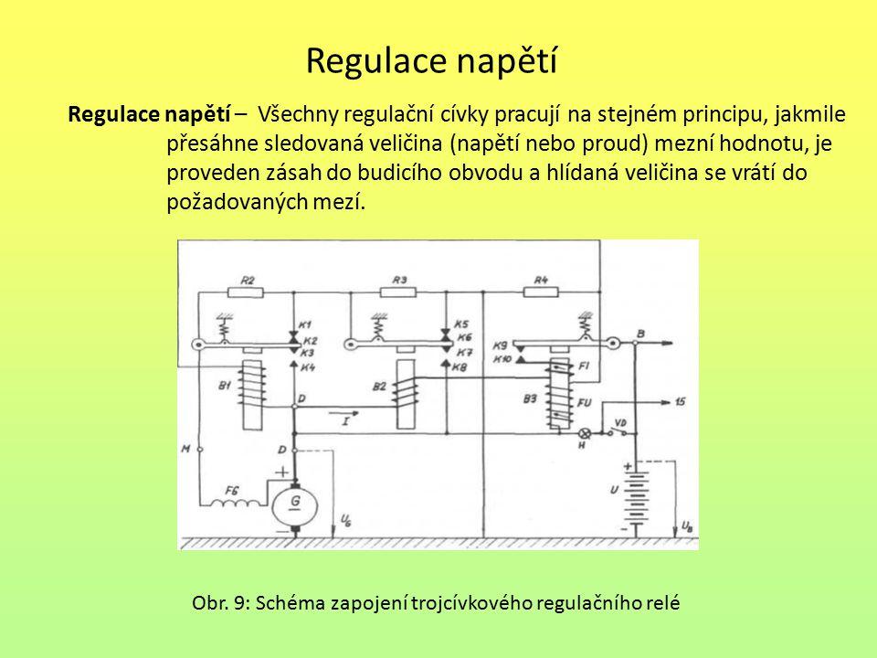 Regulace napětí Regulace napětí – Všechny regulační cívky pracují na stejném principu, jakmile.