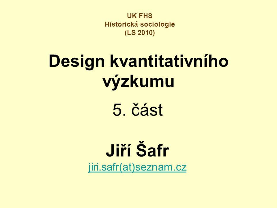Design kvantitativního výzkumu