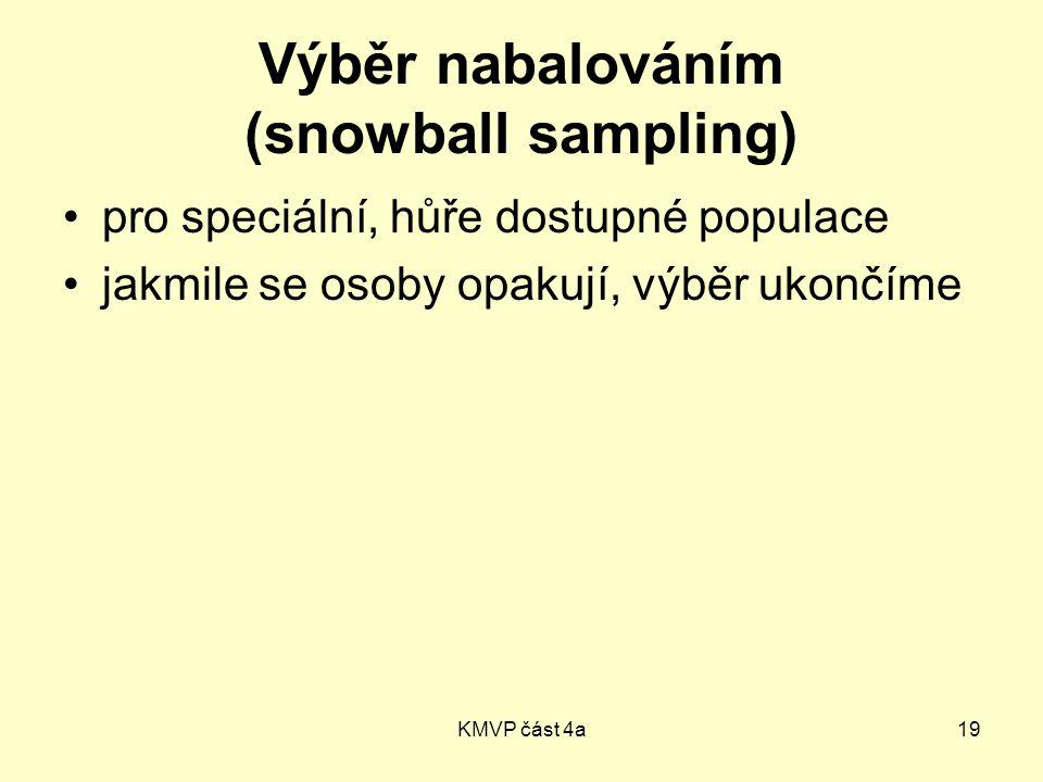 Výběr nabalováním (snowball sampling)