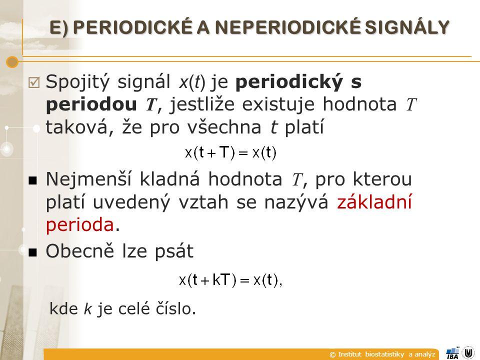 E) Periodické a neperiodické signály