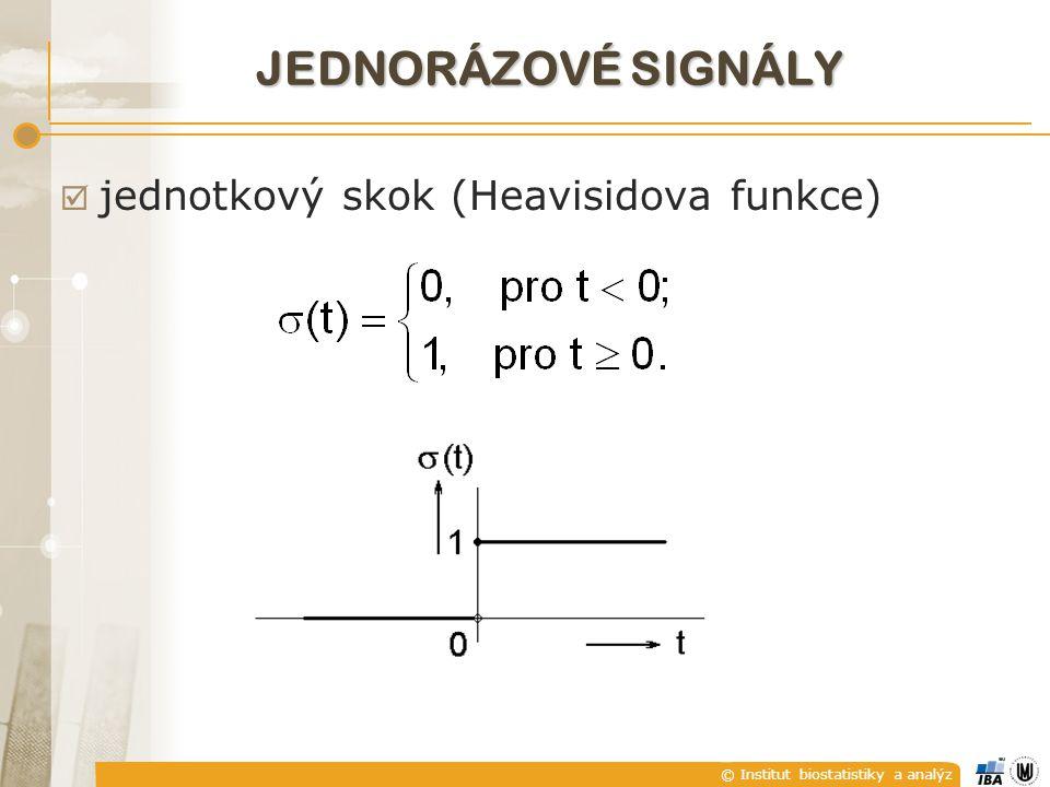 JEDNORÁZOVÉ SIGNÁLY jednotkový skok (Heavisidova funkce)