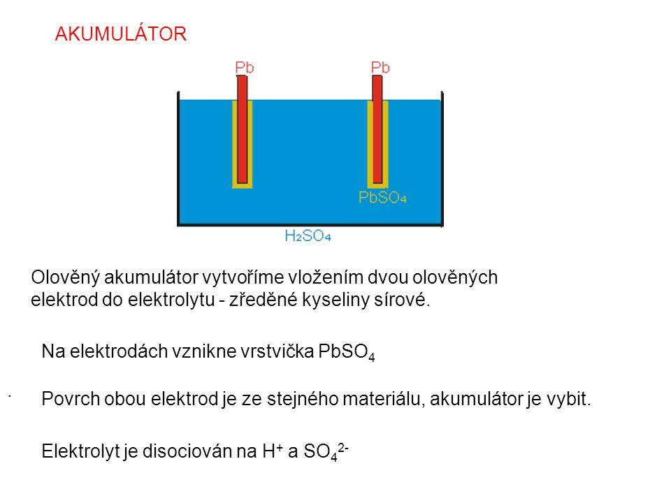Na elektrodách vznikne vrstvička PbSO4