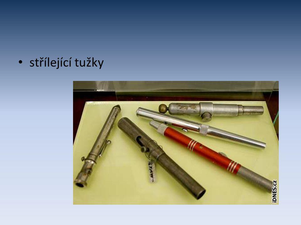 střílející tužky